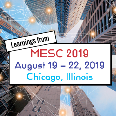 Learnings from MESC 2019