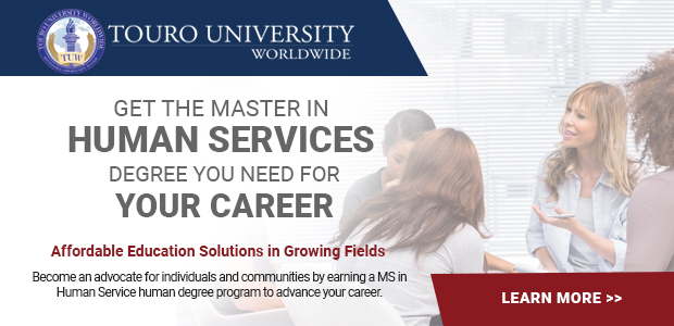 Touro University Human Services Master Degree Ad 2019